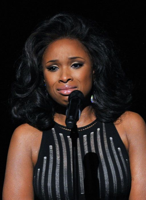 2012 Grammy Awards Performances - A tearful Jennifer Hudson at the 2012 Grammy Awards.