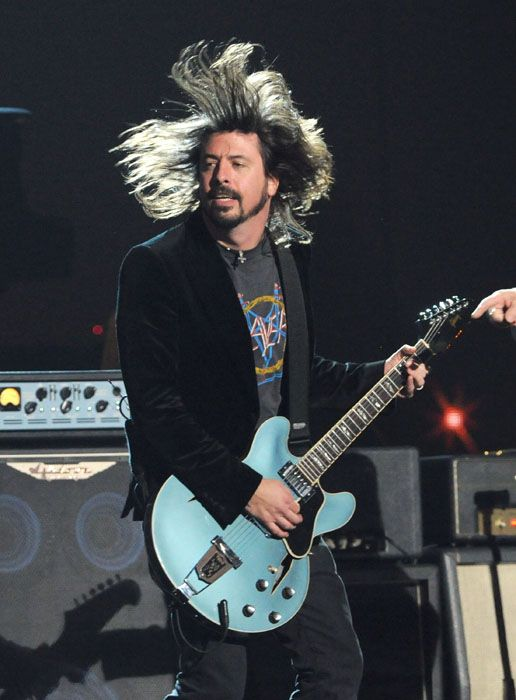 2012 Grammy Awards Performances - Dave Grohl and the Foo Fighters performing at the 2012 Grammy Awards.