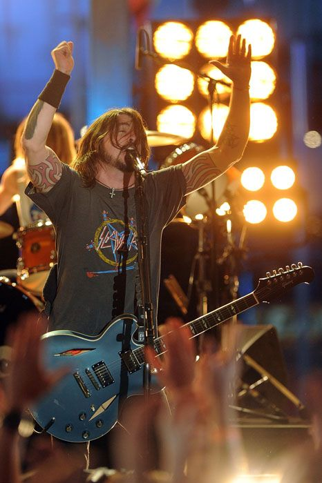 2012 Grammy Awards Performances - Dave Grohl at the 2012 Grammy Awards.