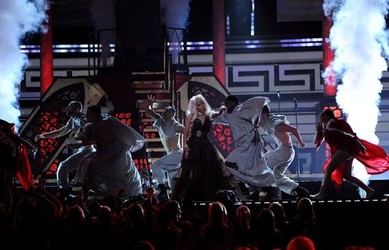 2012 Grammy Awards Performances - Nicki Minaj at the 2012 Grammy Awards.