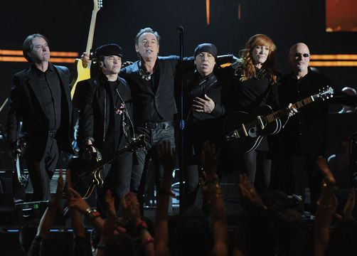 2012 Grammy Awards Performances - Bruce Springsteen and the E Z Street Band at the 2012 Grammy Awards.