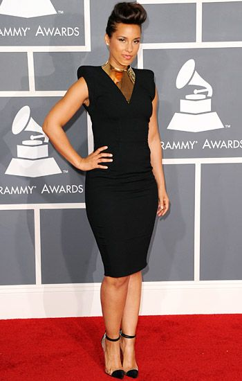 2012 Grammy Awards Red Carpet - Alicia Keys on the Red Carpet at the 2012 Grammy Awards.