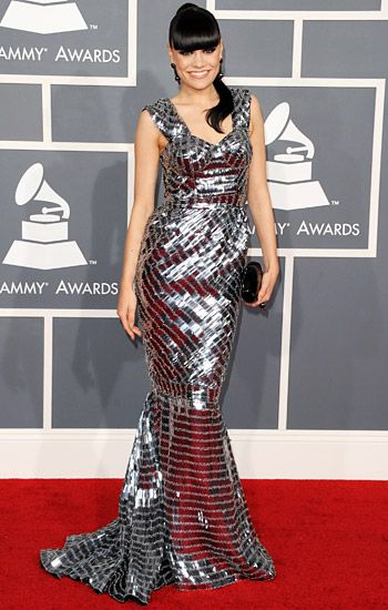 2012 Grammy Awards Red Carpet - Jessie J on the Red Carpet at the 2012 Grammy Awards.