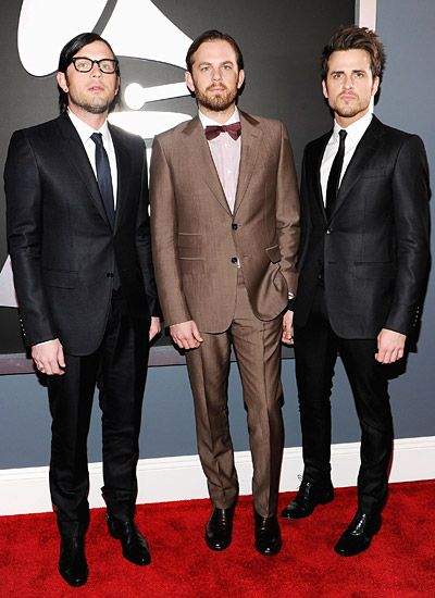 2012 Grammy Awards Red Carpet - Kings of Leon on the Red Carpet at the 2012 Grammy Awards.