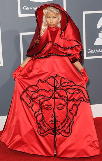 2012 Grammy Awards Red Carpet - Nicki Minaj on the Red Carpet at the 2012 Grammy Awards.