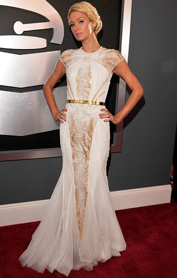 2012 Grammy Awards Red Carpet - Paris Hilton on the Red Carpet at the 2012 Grammy Awards.
