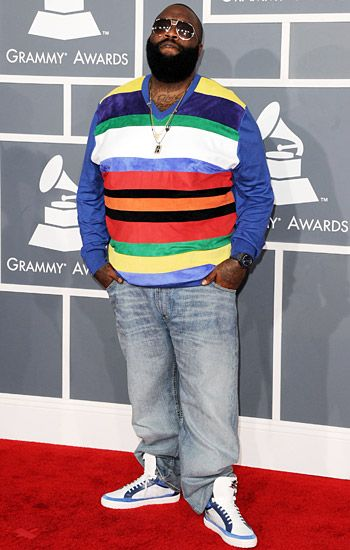 2012 Grammy Awards Red Carpet - Rick Ross on the Red Carpet at the 2012 Grammy Awards.