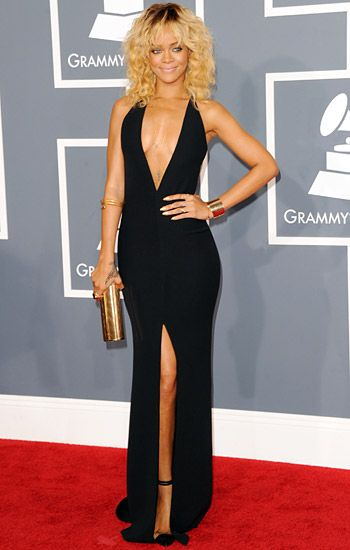 2012 Grammy Awards Red Carpet - Rihanna on the Red Carpet at the 2012 Grammy Awards.