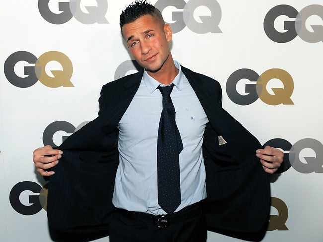Jersey Shore Then & Now - Mike looking ever so chic for GQ