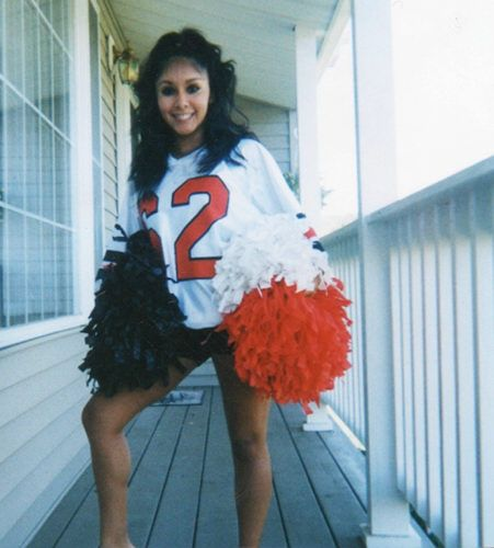 Jersey Shore Then & Now - Nicole on the highschool cheerleading squad