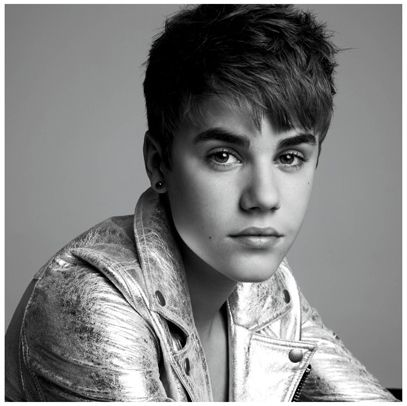 Justin Bieber | High Fashion | V Magazine - Silver faded leather jacket with the eyes of eternity staring in your face - JB is here to stay.