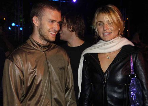 Best Of Justin Timberlake - Happy 31st - Justin at a charity event with then girlfriend Cameron Diaz - Oct 2004 (23 yrs old)