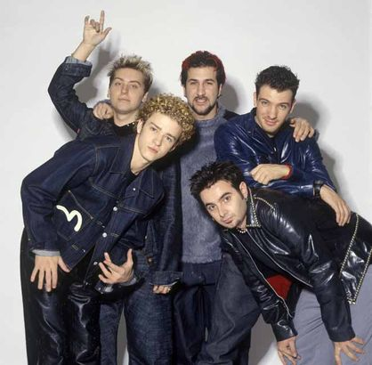Best Of Justin Timberlake - Happy 31st - Justin Timberlake, Lance Bass, Joey Fatone, JC Chasez and Chris Kirkpatrick pose for N Sync circa 1999 (18 yrs old)