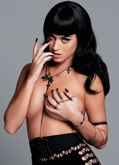 Things Katy Perry Has Worn On Her Breasts - Nothing