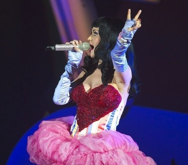 Things Katy Perry Has Worn On Her Breasts - A Heart