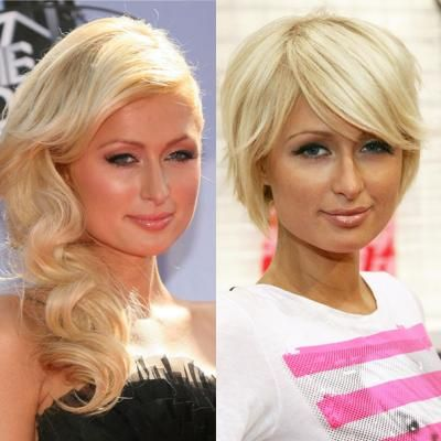 Celebrity Long to Short Hair Transformations - Paris Hilton