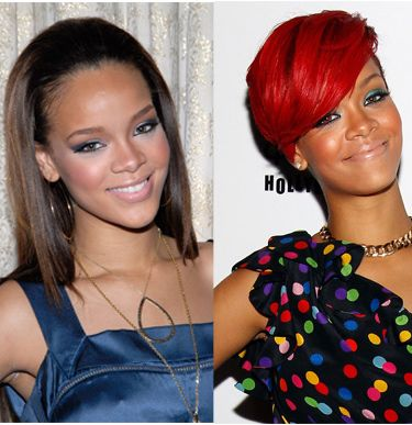 Celebrity Long to Short Hair Transformations - Rihanna