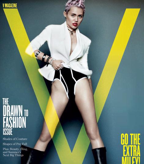 Miley Cyrus Brings Sexy In V Magazine - Miley Cyrus V Magazine