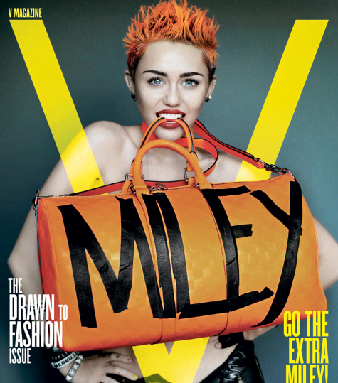 Miley Cyrus Brings Sexy In V Magazine - Miley Cyrus for V Magazine