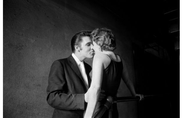 Most Famous Kisses Of All Time - Elvis at 21 by Alfred Wertheimer, 1956
