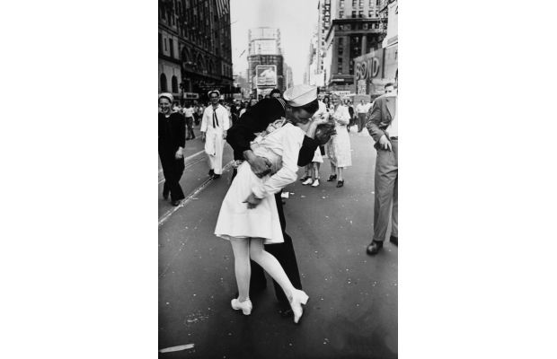 Most Famous Kisses Of All Time - V-J Day In Times Square by Alfred Eisenstaedt, 1945