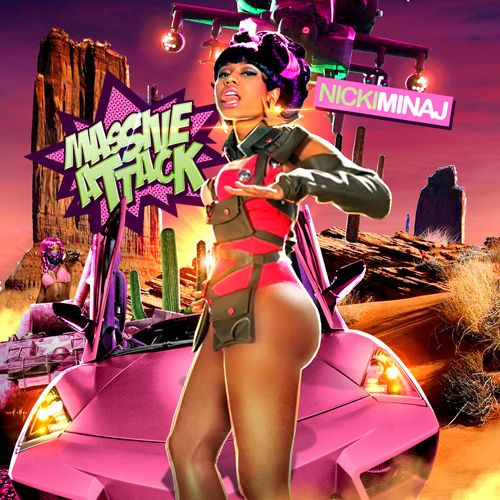 Nicki Minaj Booty Pictures - Nicki Minaj cover art for her single Massive Attack