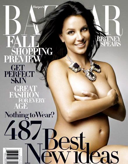 Pregnant Celebrity Magazine Covers - Britney Spears
