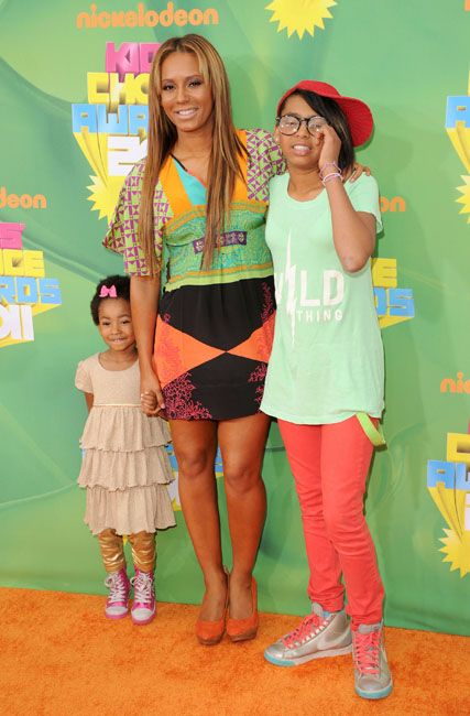 Pregnant Celebrities of 2010/2011 - Mel B of the former Spice Girls showed up to the Kids Choice Awards this year. She is ready to give birth any day now.