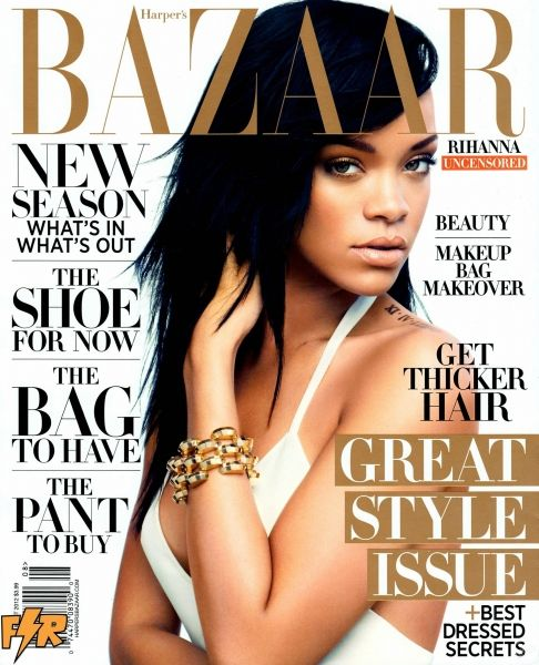 Rihanna's Harper's Bazaar Photo Shoot - Rihanna in August 2012 issue of Harper's Bazaar