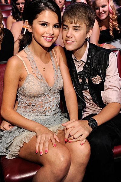 Evolution Of Selena Gomez - Selena Gomez and Justin Bieber attend the 2011 Teen Choice Awards on August 7, 2011.