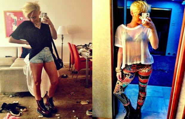 Sexiest Phone Self Portraits - Miley Cyrus