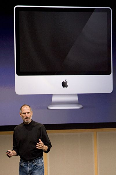 Steve Jobs Legacy 1955 - 2011 - Jobs presented the first version of the modern-day iMac computer in 2007. No longer was there a need for big towers and boxes -- it was all in one