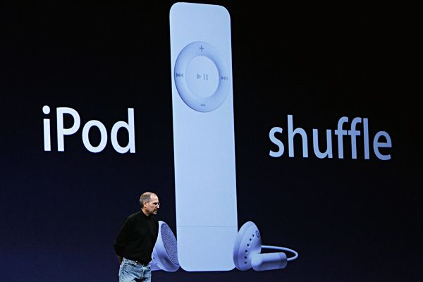 Steve Jobs Legacy 1955 - 2011 - Jobs unveiled a less-cumbersome personal music player with the iPod Shuffle in 2005