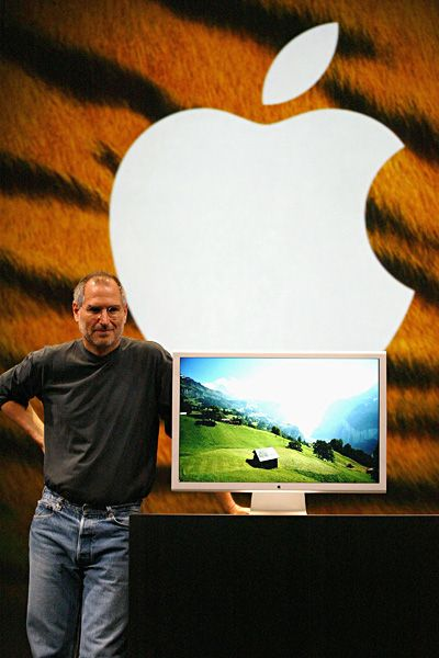 Steve Jobs Legacy 1955 - 2011 - The Mac began to take shape in 2005 with OSX Tiger. Jobs also presented the world with the first consumer-based 30-inch display