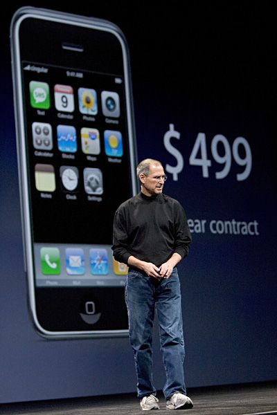 Steve Jobs Legacy 1955 - 2011 - Cell phones would never be the same. In 2007 Jobs presented the first iPhone: a powerful device capable of not only making phone calls, but enabling one to hold life itself in your pocket