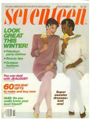 Whitney Houston | Timeline - 1963 to 2012 - Whitney covers Seventeen Magazine. She is one of the first African Americans to ever make the cover.
