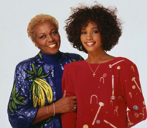 Whitney Houston | Timeline - 1963 to 2012 - Whitney Houston with Mother Cissy - 1987