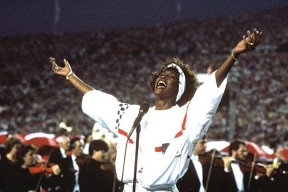Whitney Houston | Timeline - 1963 to 2012 - Whitney Houston - 1991 - performs the National Anthem at the Super Bowl.