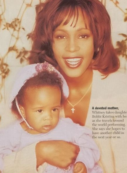 Whitney Houston | Timeline - 1963 to 2012 - Whitney Houston - 1994 - with her daughter