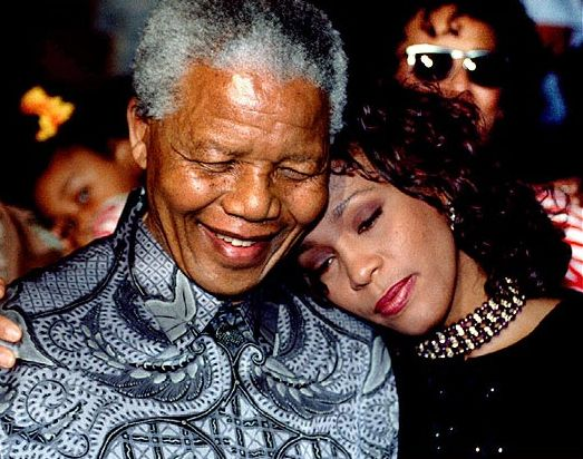 Whitney Houston | Timeline - 1963 to 2012 - Whitney Houston - 1994 - with Nelson Mandela