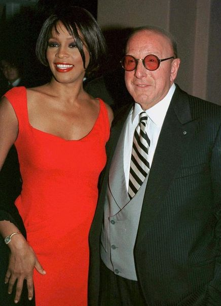 Whitney Houston | Timeline - 1963 to 2012 - Whitney Houston - 1999 - at Clive Davis' pre-Grammy party.