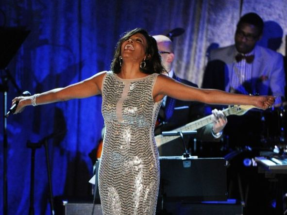 Whitney Houston | Timeline - 1963 to 2012 - Whitney Houston - 2011 - erforming at Clive Davis' Grammy party.