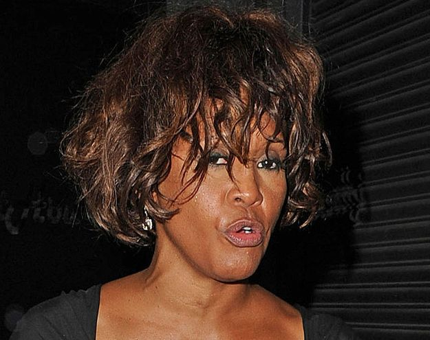 Whitney Houston | Timeline - 1963 to 2012 - Whitney Houston - 2012 - looked disheveled as she left a Hollywood nightclub.