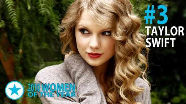 Men & Women of 2010 - Woman of the Year #3: Taylor Swift. Although 13 is her lucky number, it was ?10 that proved to be Taylor?s biggest year so far. She started the year with four Grammy awards and is the youngest artist to ever win the Album of the Year award. She hasn?t slowed down since then, cutting a golden swath of wins across every awards show stage between Los Angeles and Nashville. Her third album, October?s Speak Now, debuted at #1 on the Billboard albums chart with over 1 million unit